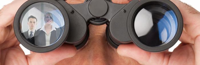 Looking at career options through binoculars