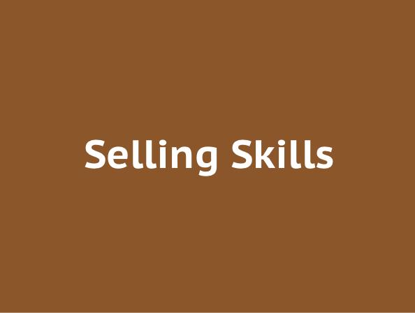 Selling skills